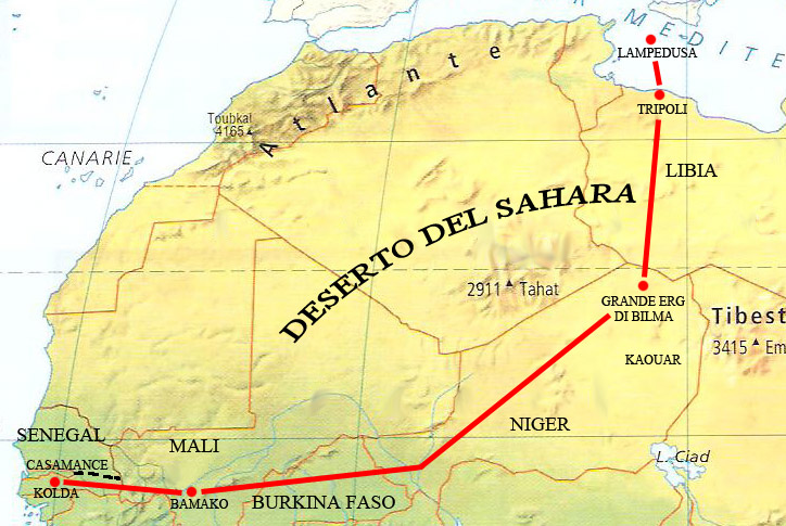<p>Mappa Nord Africa</p>