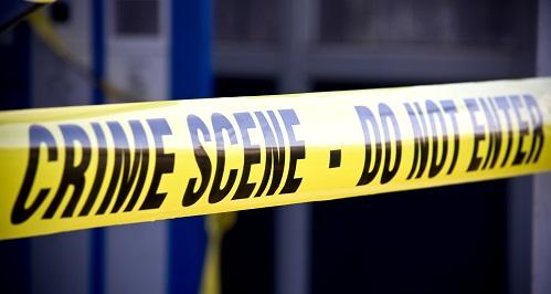 <p>Close up crime scene investigation police boundary tape</p>