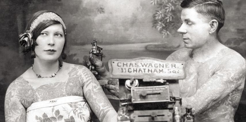 <p>Legendary Bowery tattooist Charlie Wagner tattooing an unknown woman. Don and Newly Preziosi<br /> Collection.</p> <p>Bodies of Subversion was the first history of women's tattoo art when it was released in 1997, providing a fascinating excursion to a subculture that dates back to the nineteenth-century and including many never-before-seen photos of tattooed women from the last century. Newly revised and expanded, it remains the only book to chronicle the history of both tattooed women and women tattooists. As the primary reference source on the subject, it contains information from the original edition, including documentation of:</p> <p>•Nineteenth-century sideshow attractions who created fantastic abduction tales in which they claimed to have been forcibly tattooed.<br /> •Victorian society women who wore tattoos as custom couture, including Winston Churchill's mother, who wore a serpent on her wrist.<br /> •Maud Wagner, the first known woman tattooist, who in 1904 traded a date with her tattooist husband-to-be for an apprenticeship.<br /> •The parallel rise of tattooing and cosmetic surgery during the 80s when women tattooists became soul doctors to a nation afflicted with body anxieties.<br /> •Breast cancer survivors of the 90s who tattoo their mastectomy scars as an alternative to reconstructive surgery or prosthetics.</p> <p>Must link to: http://www.powerhousebooks.com</p>