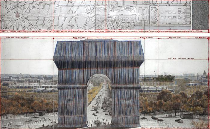 <p>Christo/Arco di Trionfo impacchettato</p>